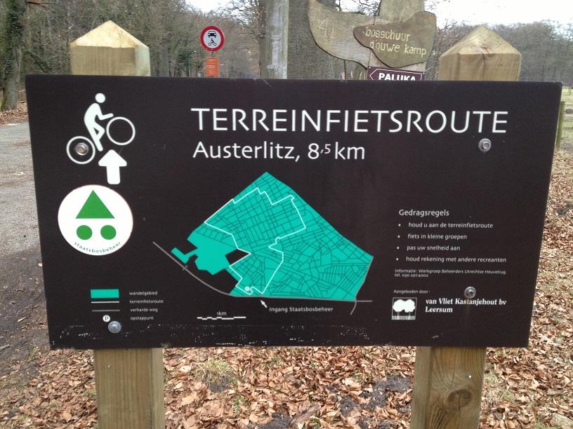 Terreinfietsroute bord Austerlitz